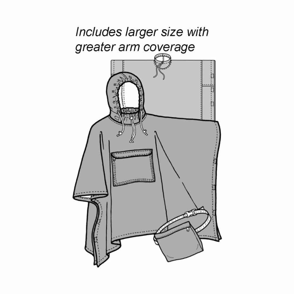 Adult Rain Poncho Pattern