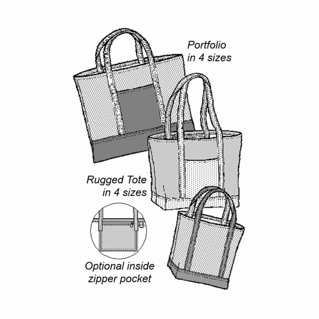 Rugged Tote and Portfolio Pattern