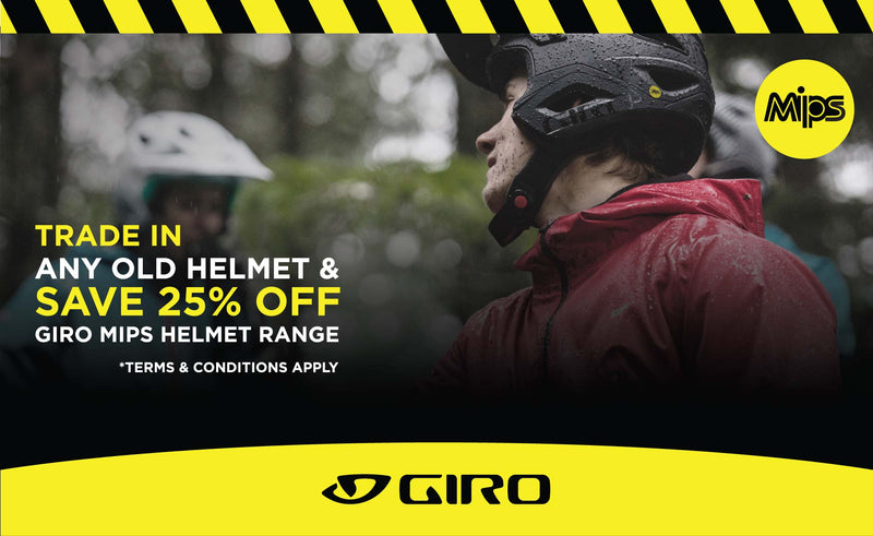 Giro Helmets TRADE IN AND SAVE promotion is happening at Drift Bikes!