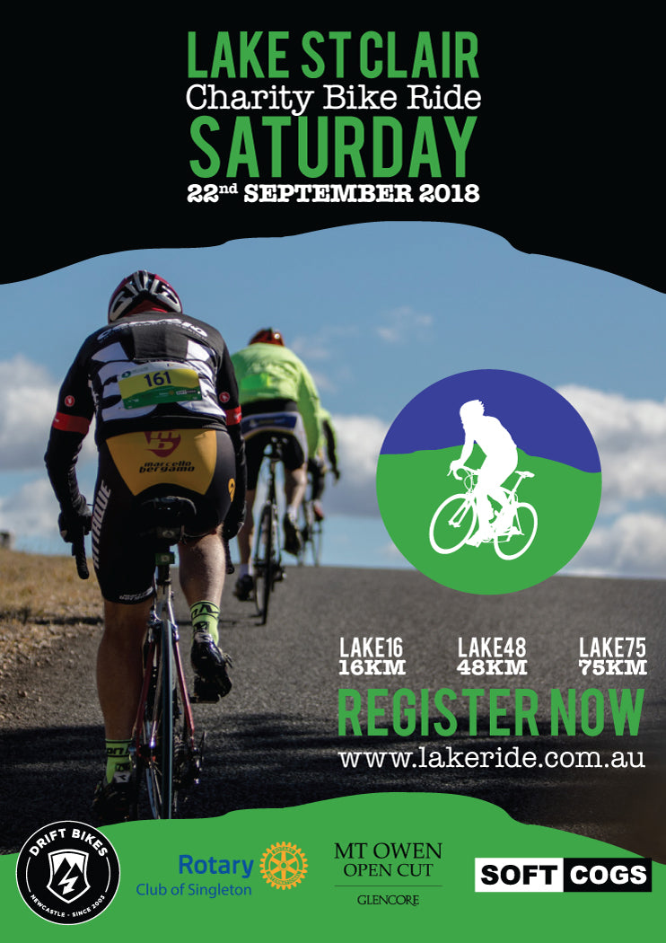 Drift Bikes is proudly supporting the Lake St Clair charity bike ride. Saturday 22nd September 2018.