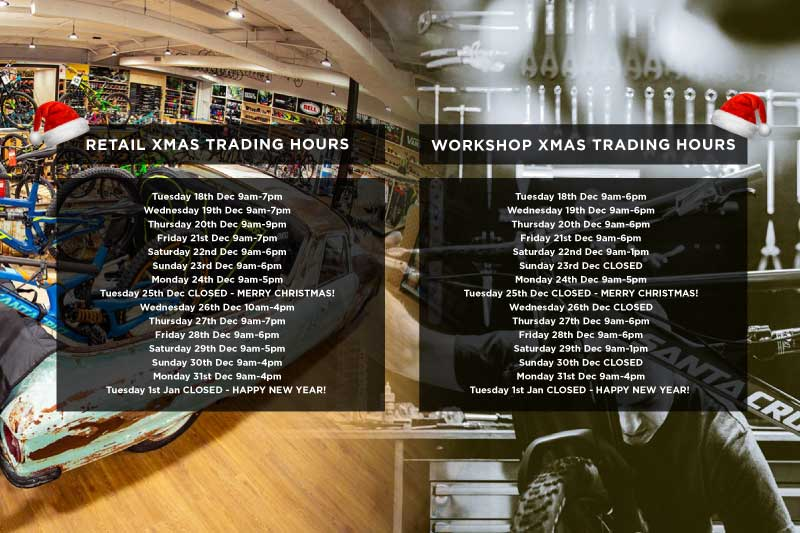 View Drift Bikes extended XMAS trading hours for the retail store and workshop