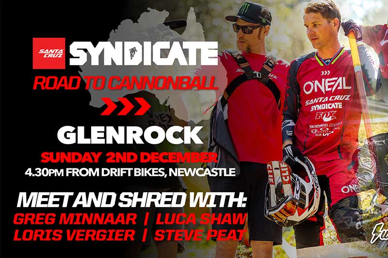 COME RIDE WITH THE SANTA CRUZ SYNDICATE