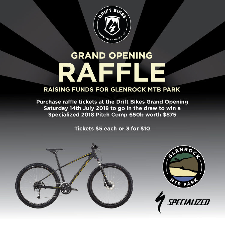 Specialized Raffle to raise funds for Glenrock MTB Park