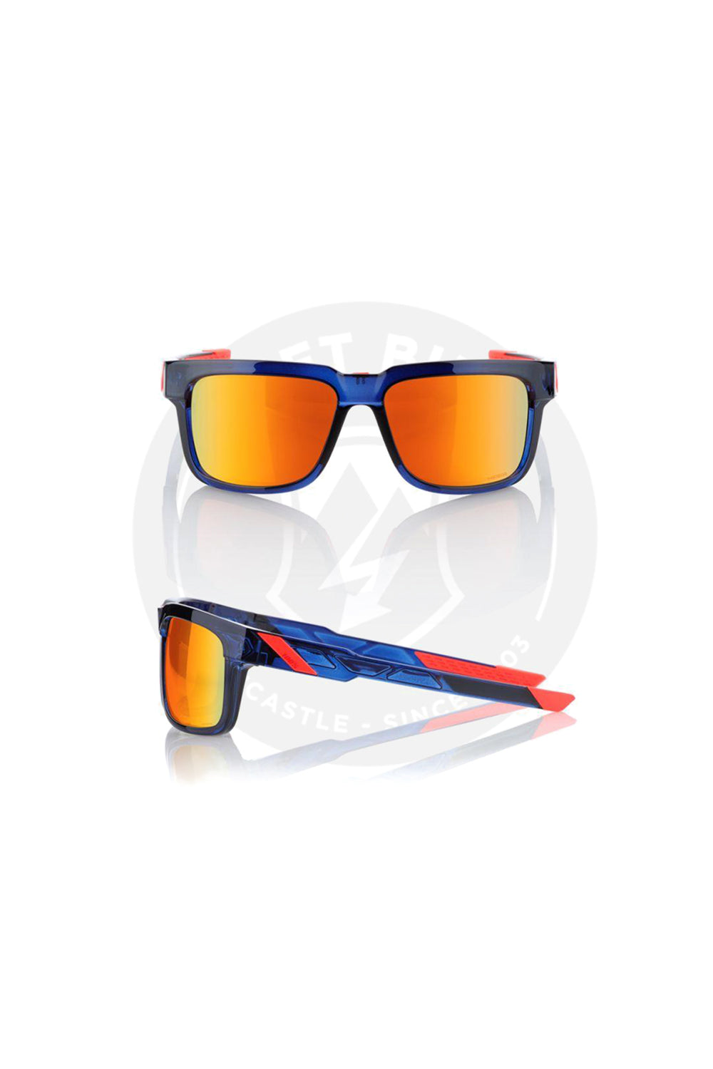 100% TYPE-S SUN GLASSES ANTHEM HiPER RED MULTILAYER MIRROR LENS