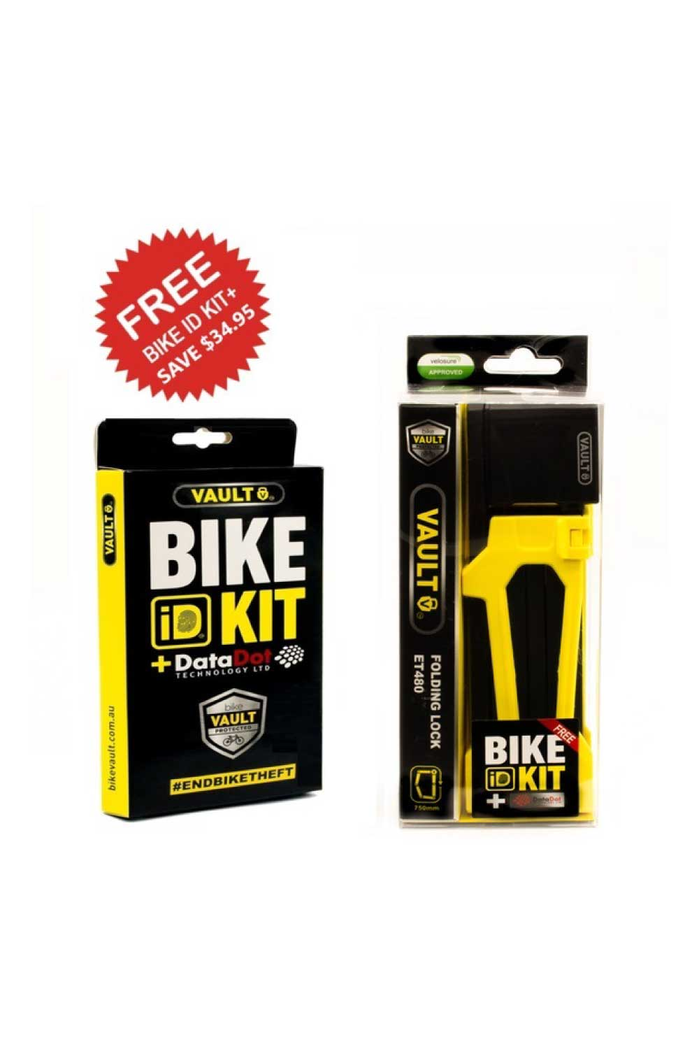 Vault Folding Lock With Bike ID Kit+