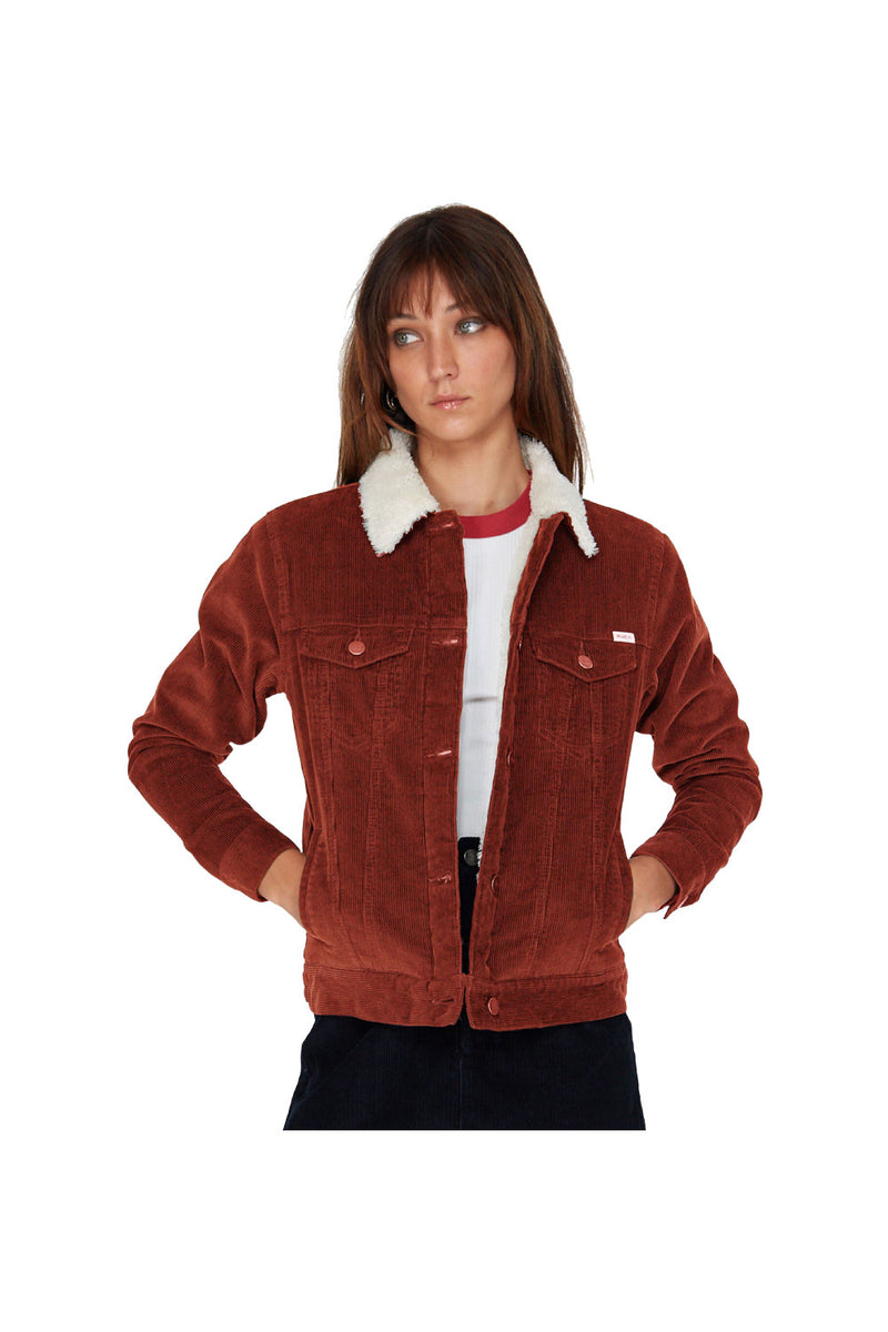 RVCA Women's Merc Cord Jacket Rust