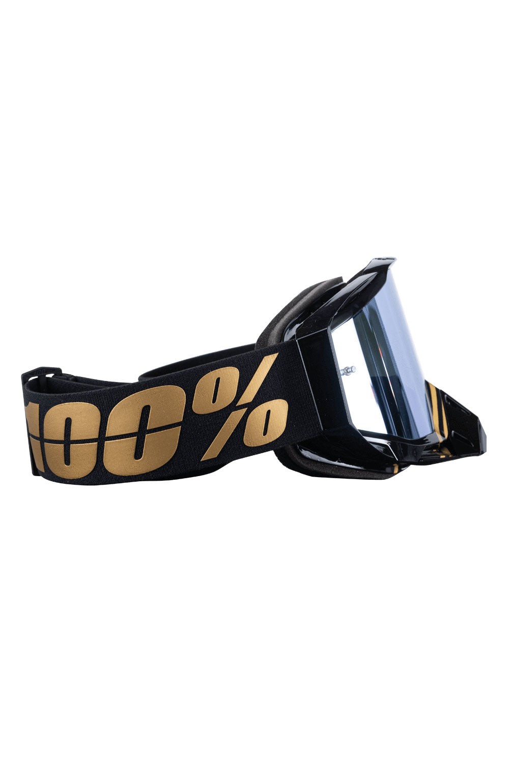 Crank Brothers X 100% Racecraft Goggles Gold/Black Hiper Mirror Lens