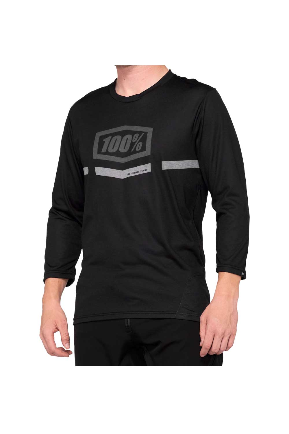 100% AIRMATIC 2020 3/4 Sleeve Jersey Black