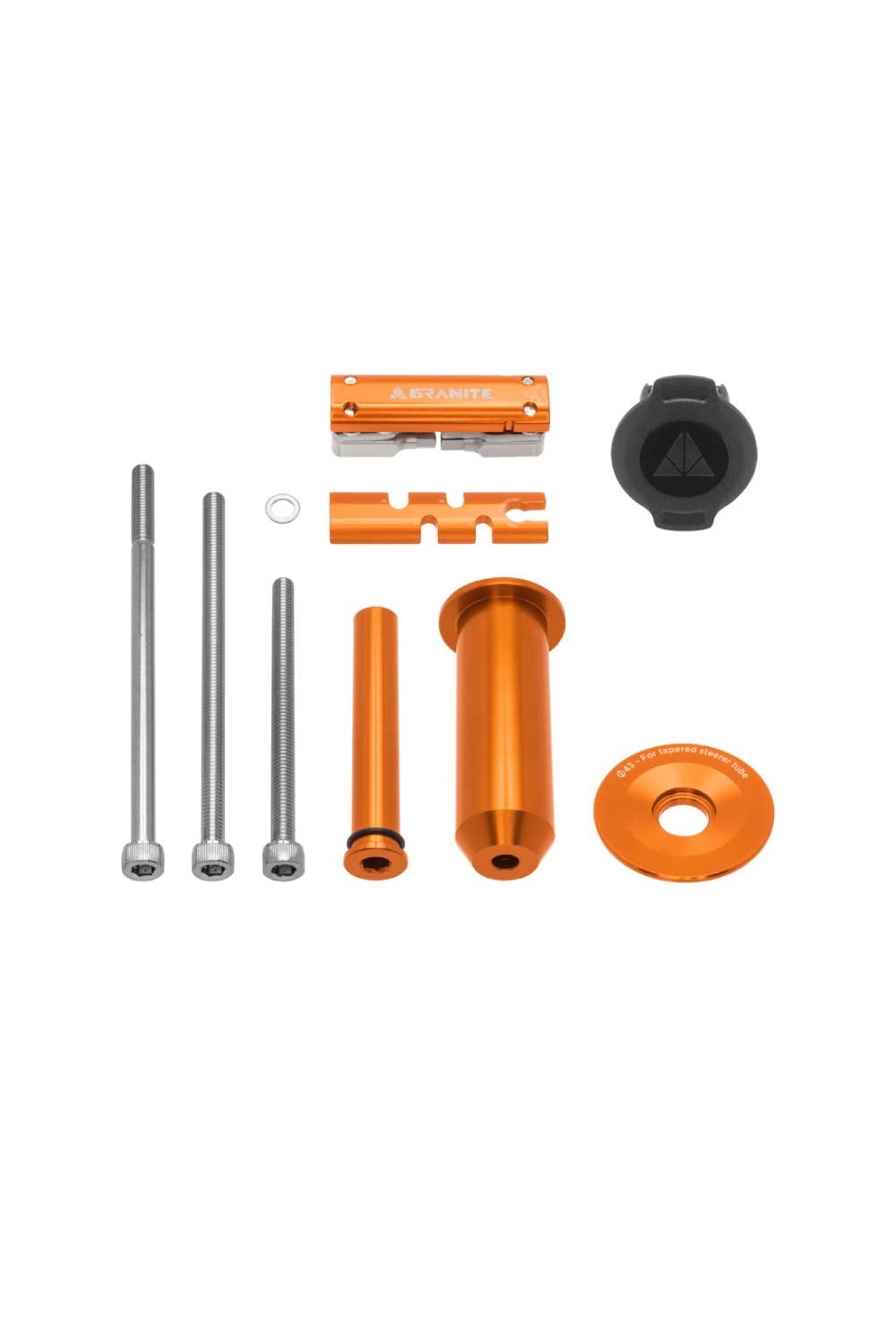 Granite Design Stash Multi Tool Kit Inside Steerer (Tapered 1 1/8-1 1/2) w/ 42mm Cap Orange
