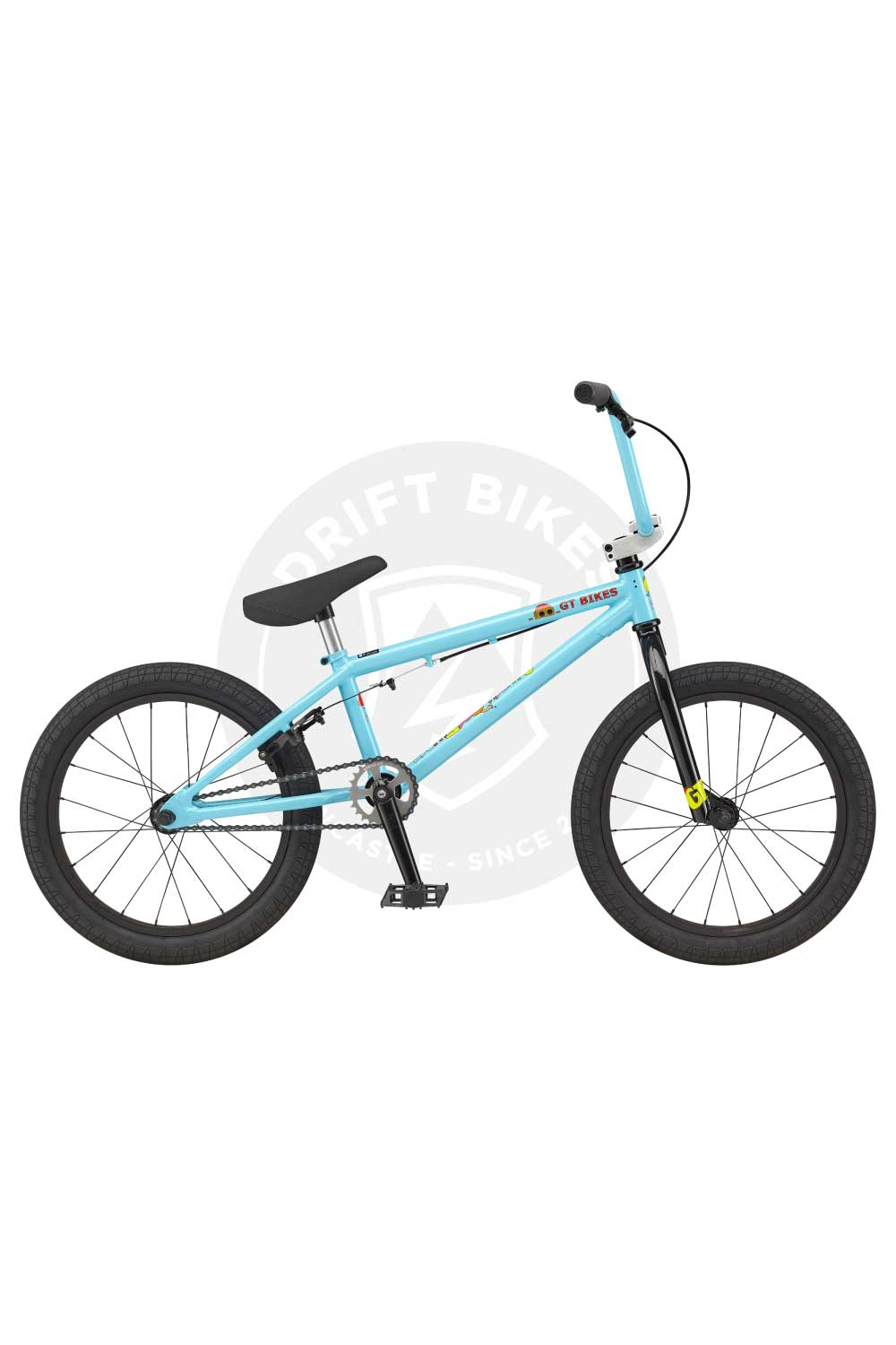 "GT Bicycles 2021 18"" Junior Performance BMX Gloss Aqua Blue"