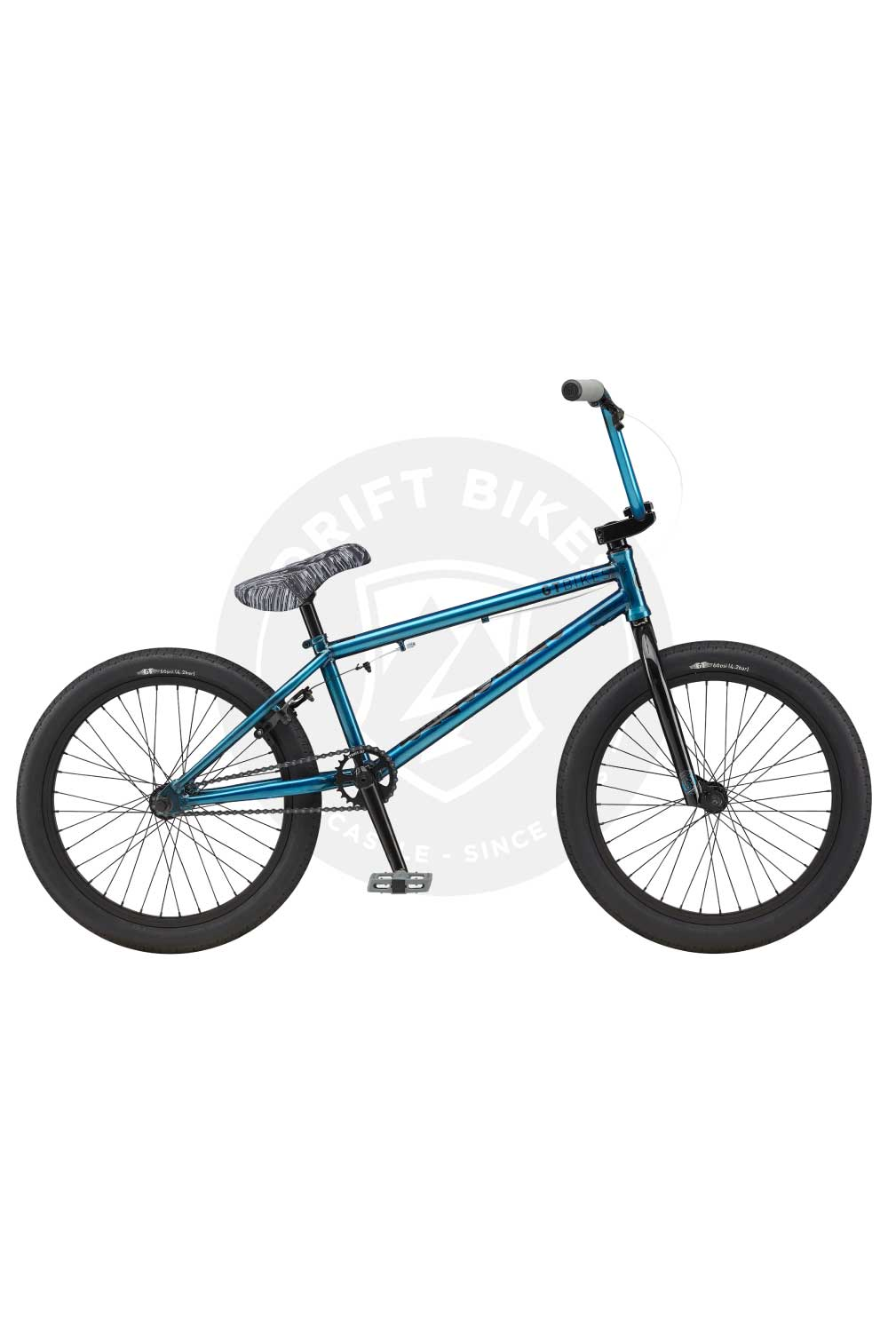 "GT Bicycles 2021 Performer 20.5"" BMX TT Gloss Trans Teal"