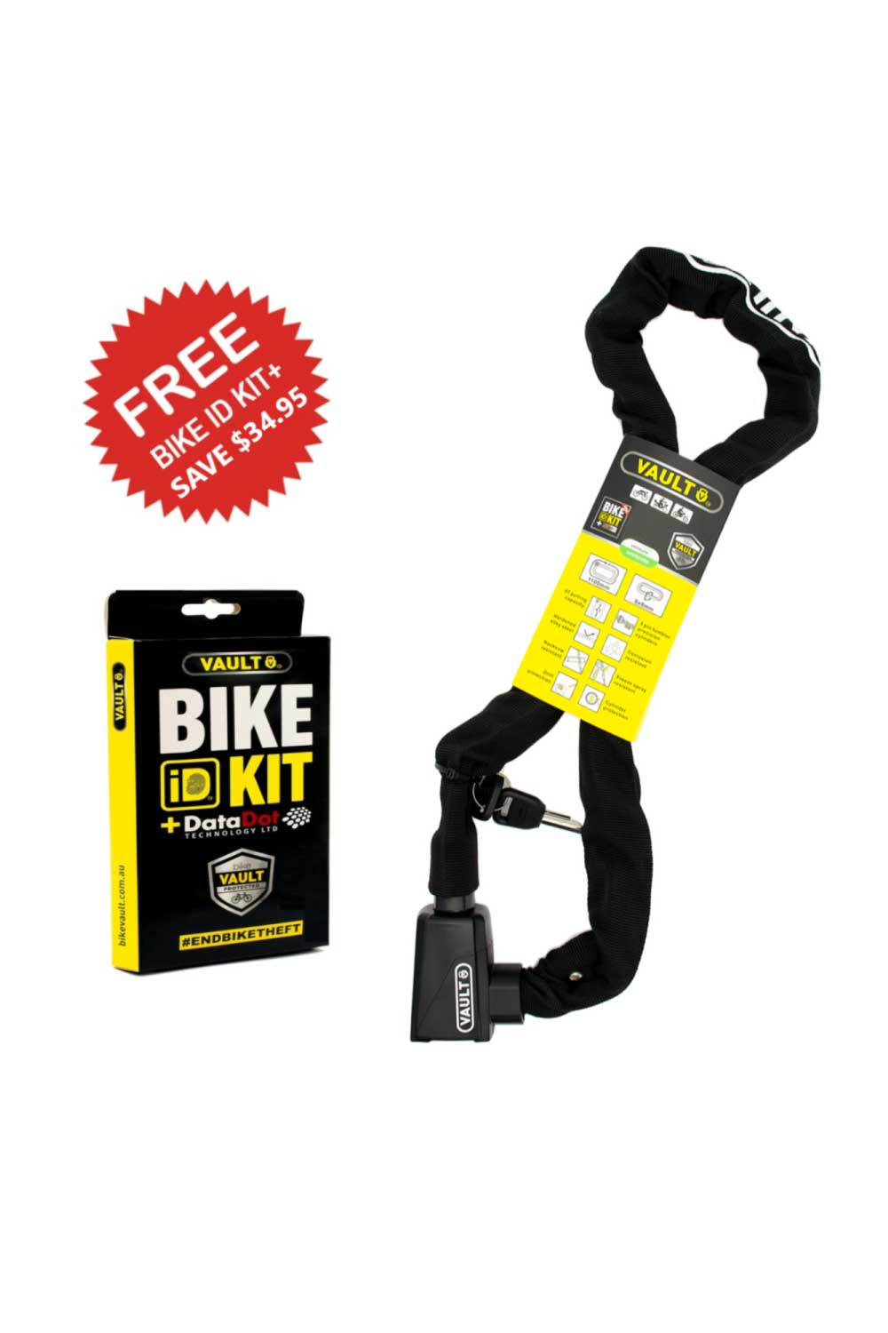 Vault Chain Lock with Bike ID Kit+