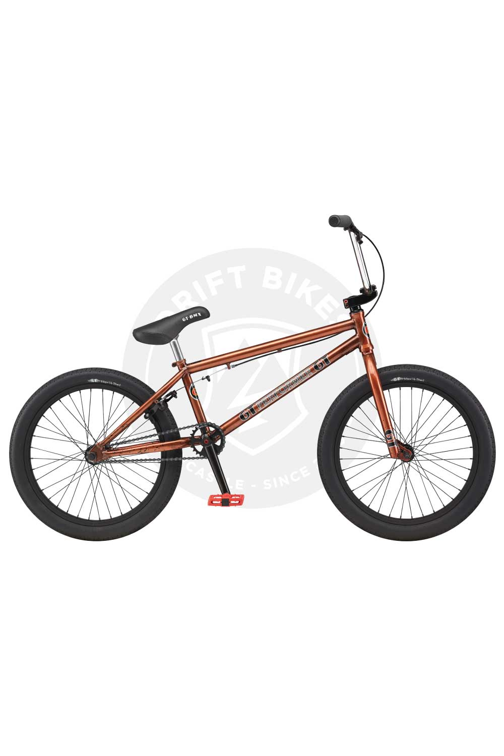 "GT Bicycles 2021 Performer 21"" BMX TT Gloss Trans Copper"