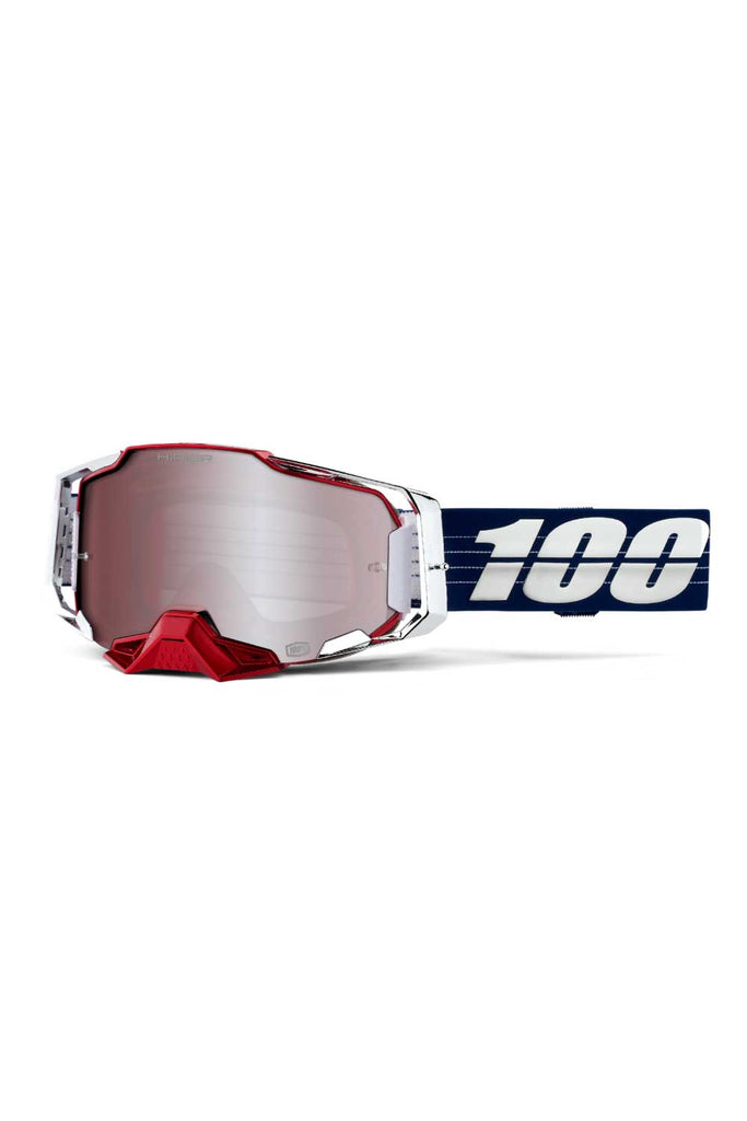 100% Loic Bruni Limited Edition Armega Goggles - Hiper Red/Silver Lens