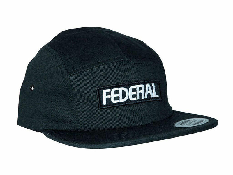 Federal Patch Logo 5 Panel Cap / Black
