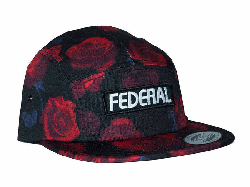 Federal Patch Logo 5 Panel Cap / Black/Red Rose