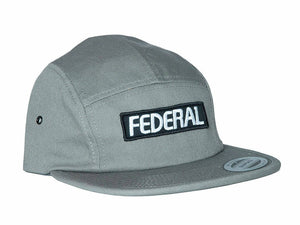 Federal Patch Logo 5 Panel Cap / Grey