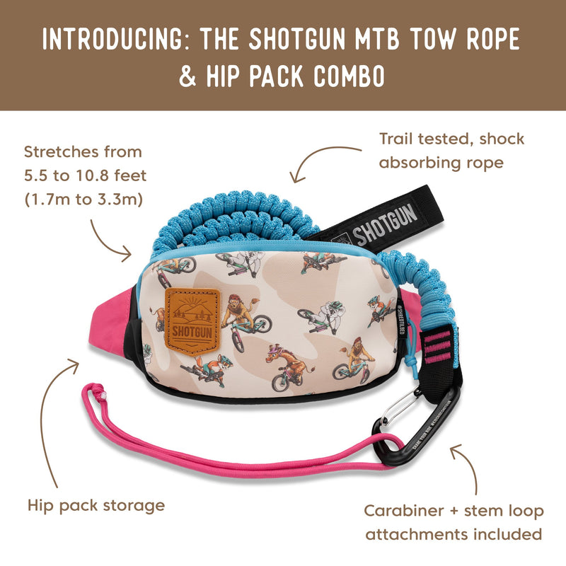 Kids Ride Shotgun - Tow Rope & Hip Pack Combo Blue