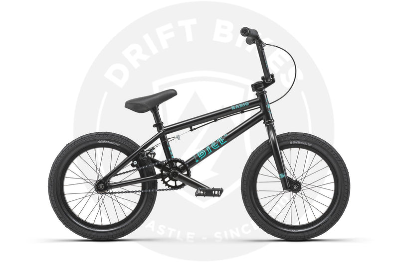 "RADIO 2019 DICE 16"" BMX, 15.75"" TT  BLACK"