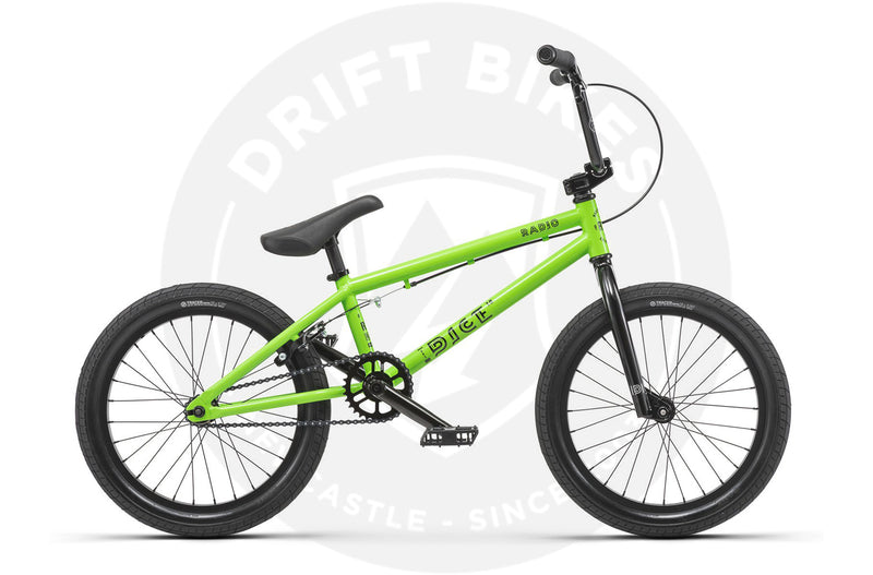 "Radio 2019 Dice 18"" BMX, 18"" TT  Neon Green"