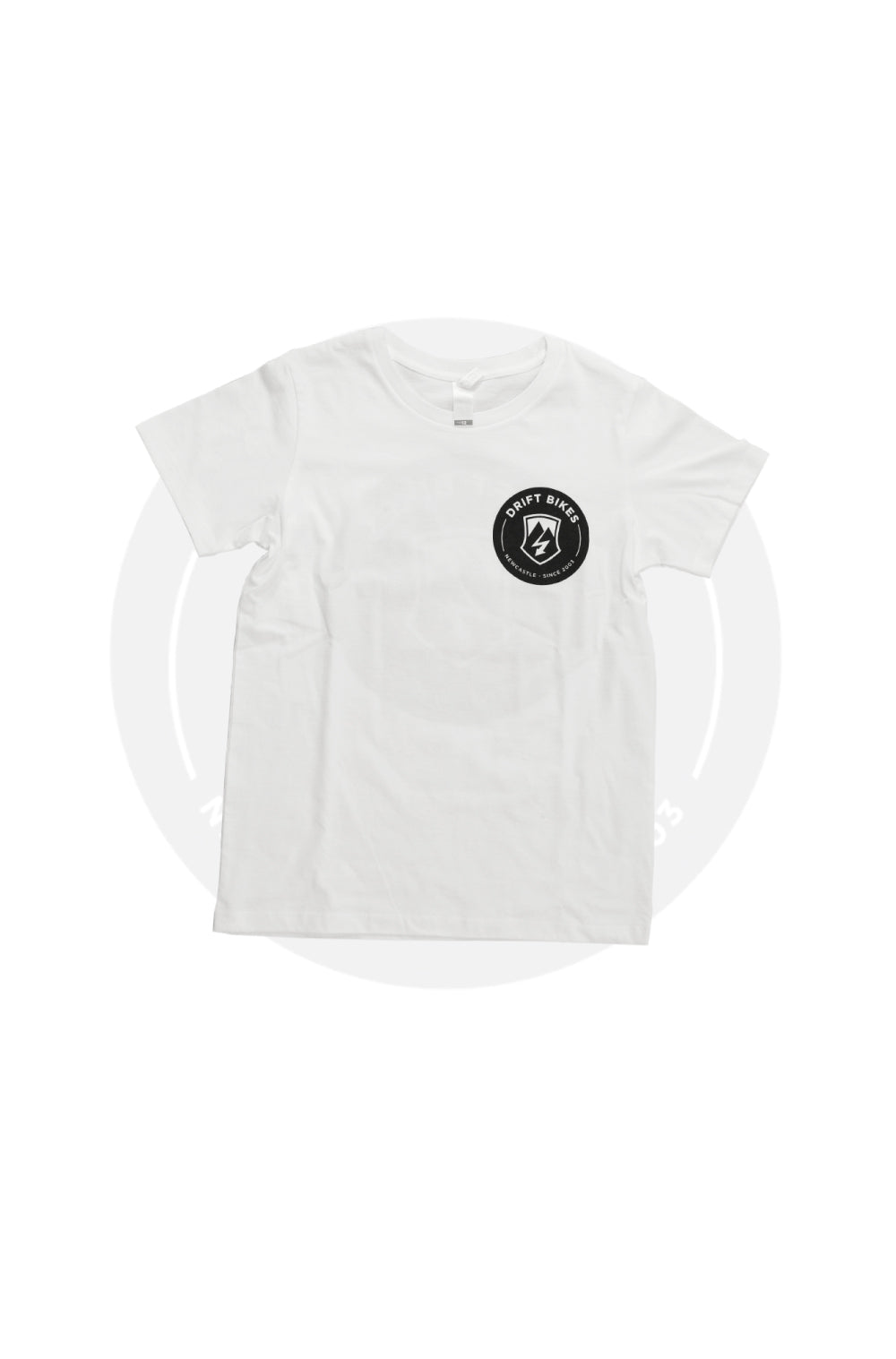 Drift Bikes Full Circle T-shirt White