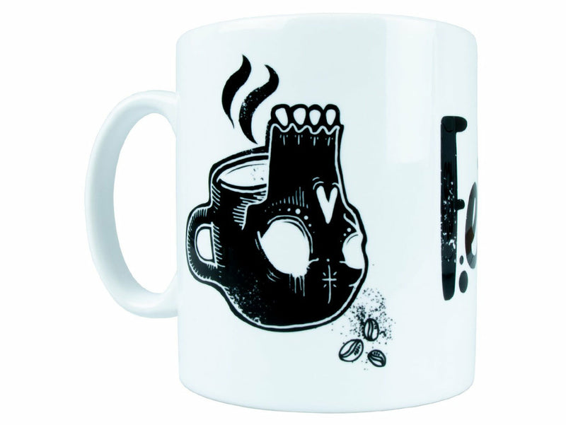 Federal Perrin Graphic Mug / White/Black