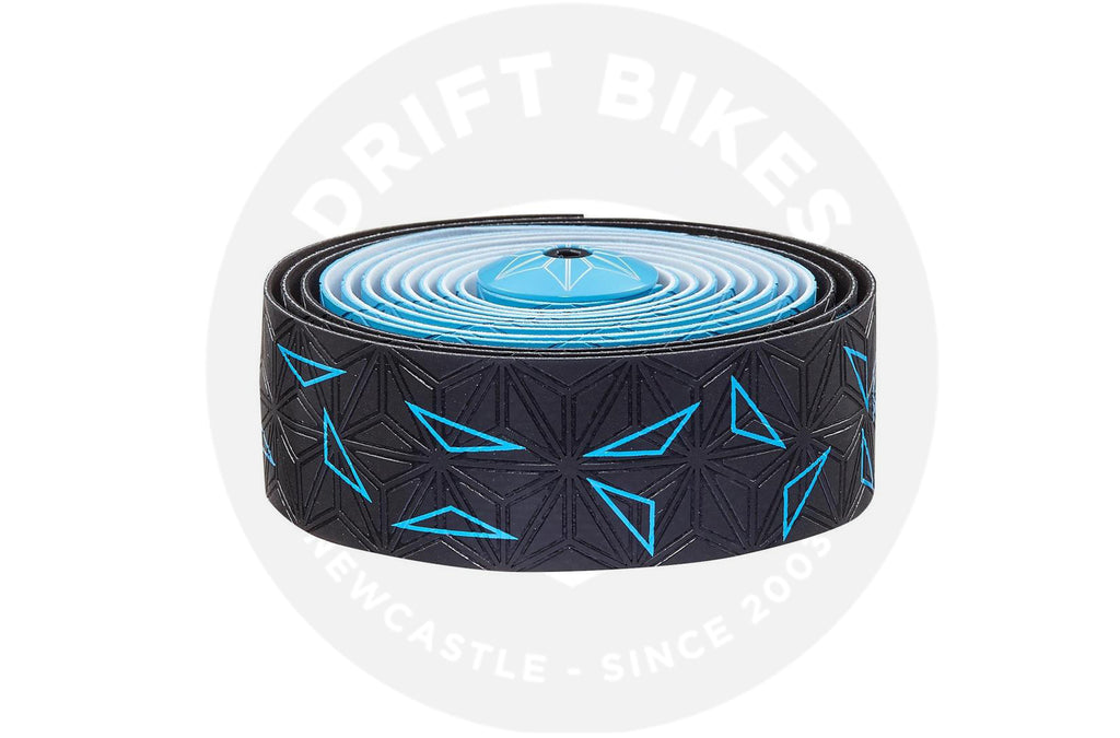 Supacaz Handlebar Bike Tape Super Sticky Kush Neon Blue/Star Fade