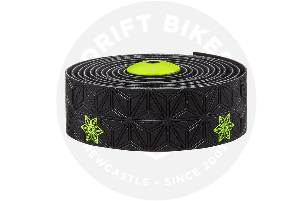 Supacaz Handlebar Bike Tape Super Sticky Kush Neon Yellow Print