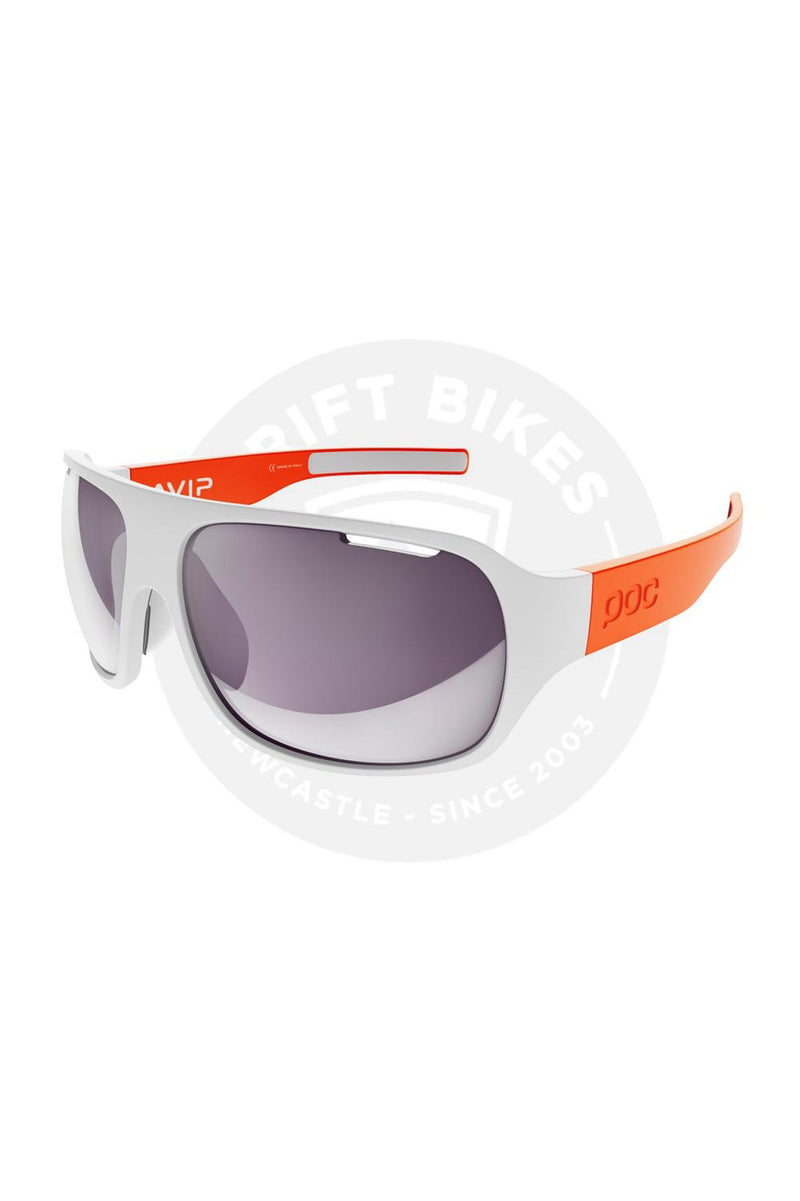 POC - Do Flow Avip - Hydrogen White / Zink Orange_Violet / Light Silver