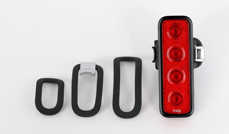 LIGHT KNOG BLINDER MOB V, FOUR EYES, RED, REAR