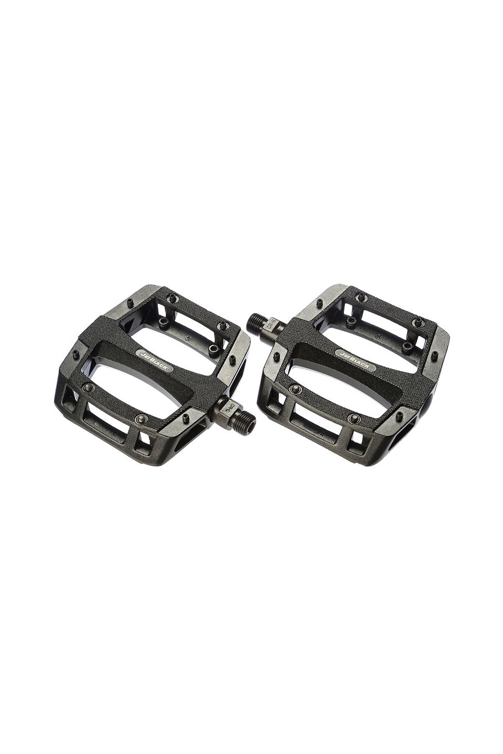 JB Flat Out Alloy MTB Pedals Painted Black Ball Bearings Cromo Axle