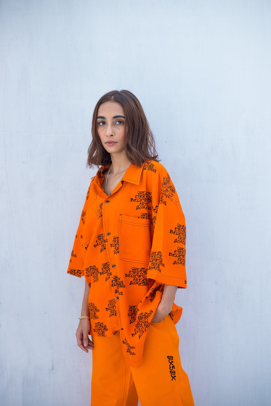 GLOBAL MESSAGE OVERSIZED SHIRT