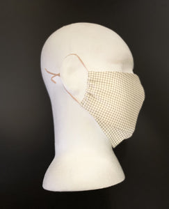 ADULT UNISEX NON-SURGICAL MASK 3 x LAYER Khaki Graph Print