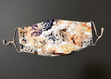 Load image into Gallery viewer, ADULT UNISEX NON-SURGICAL MASK 3 x LAYER Baroque Floral Print