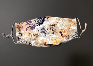 ADULT UNISEX NON-SURGICAL MASK 3 x LAYER Baroque Floral Print