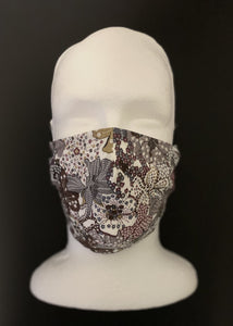 ADULT UNISEX NON-SURGICAL MASK 3 x LAYER Feelin Kinda Groovy Print