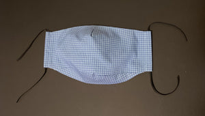 ADULT UNISEX NON-SURGICAL MASK 3 x LAYER Blue Graph Print