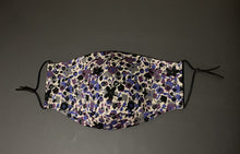 Load image into Gallery viewer, ADULT UNISEX NON-SURGICAL MASK 3 x LAYER Smokey Floral Print