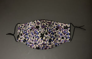 ADULT UNISEX NON-SURGICAL MASK 3 x LAYER Smokey Floral Print