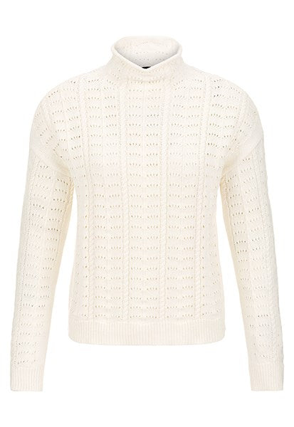 Tribal Combed Cotton Mock Neck Sweater 43440-576