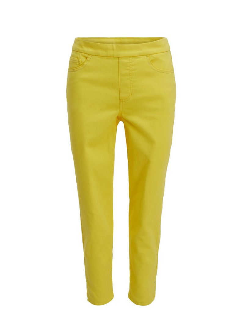 Tribal Lemon  Super Stretch Pull On Ankle Pant 4561O-402