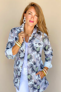Tribal Jungle  Womens Maxi Jacket Denim 60420-1386