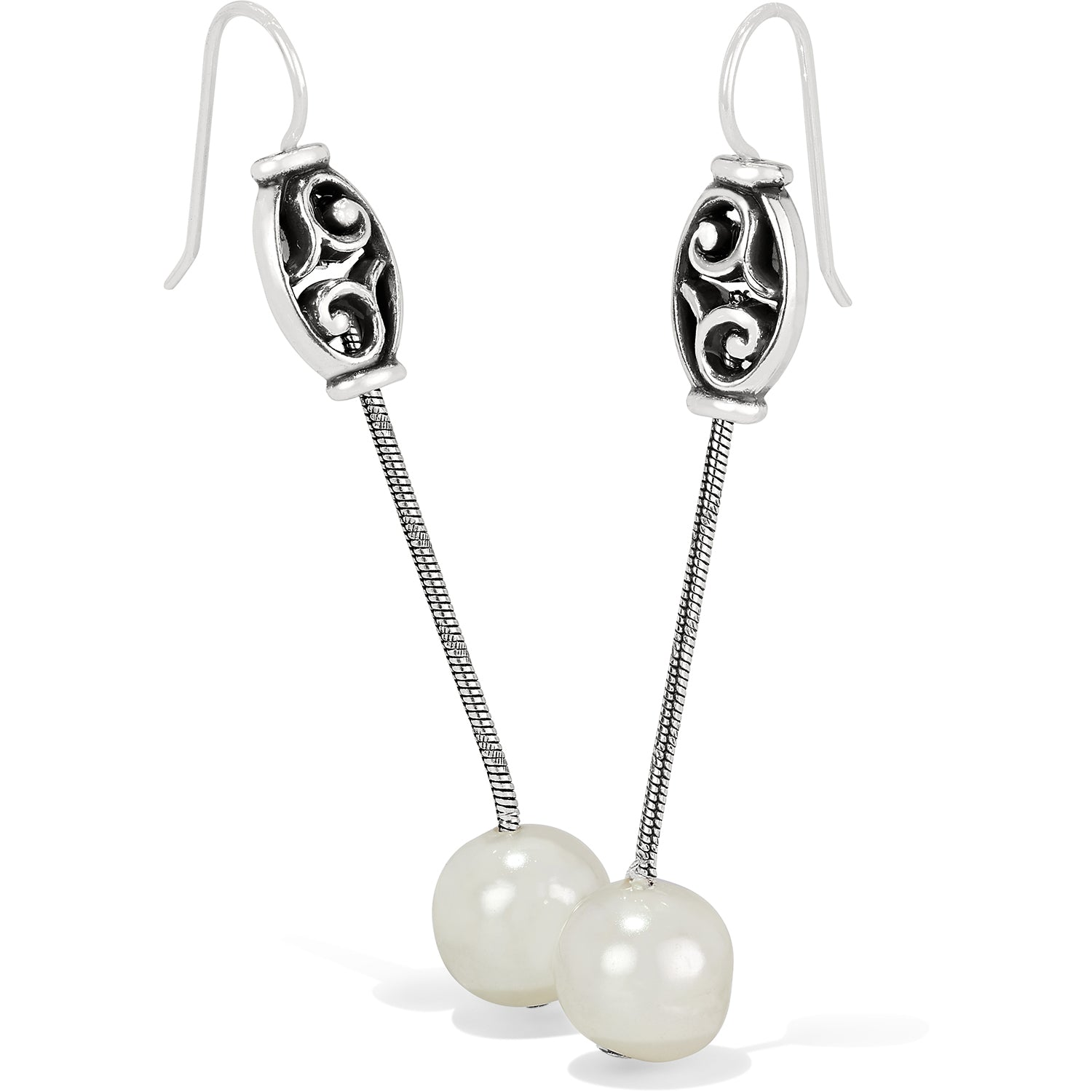 Brighton Mediterranean Pearl Long French Wire Earrings JA656A