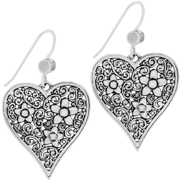 Brighton Baroness Fiori Heart French Wire Earrings JA6611