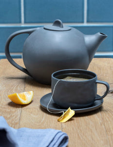 Tea Pot, Slate Stoneware