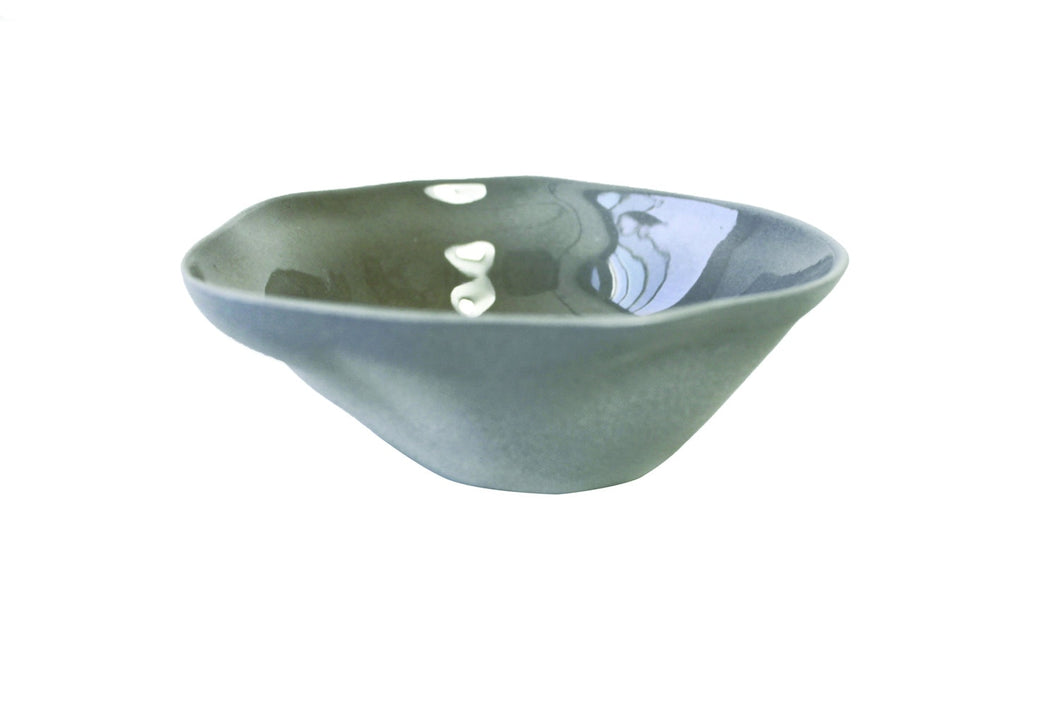 Bowl, Pinch Stoneware Sterling