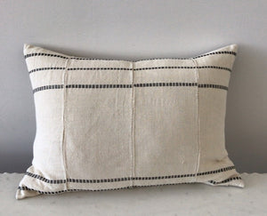 Pillow, Cream African Mud Cloth