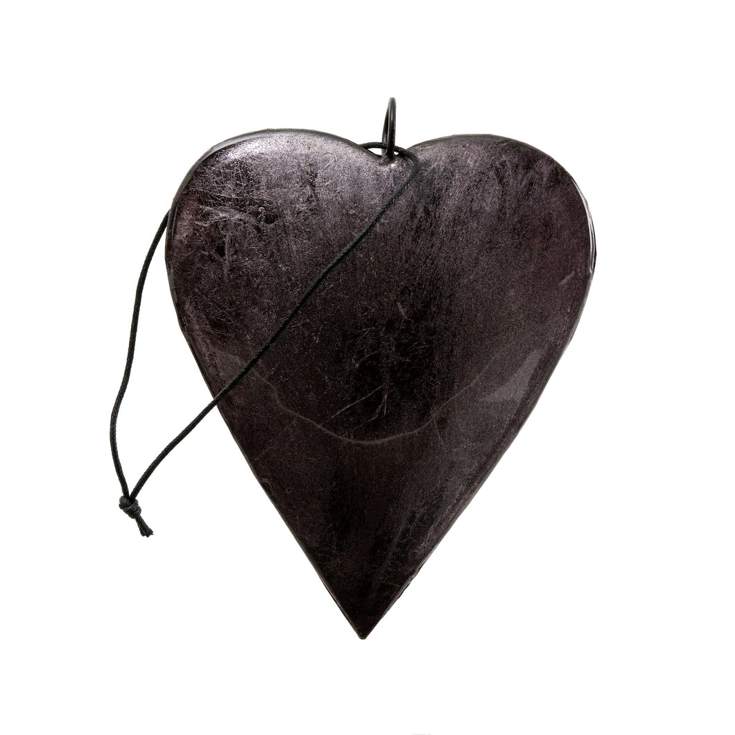 Graphite Heart Ornament