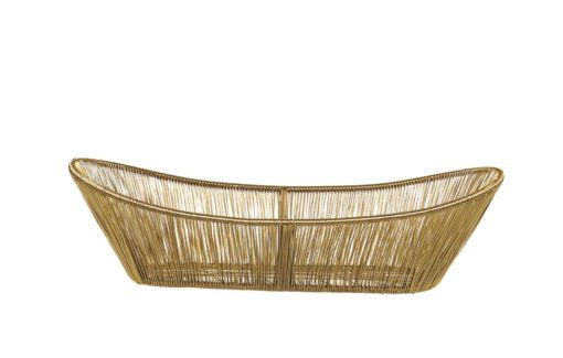 Basket, Gold Rhythm Wire Oval