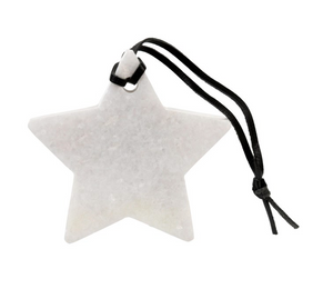 Ornament, Marble Star White